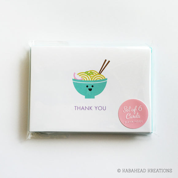Happy Noodles Note Cards