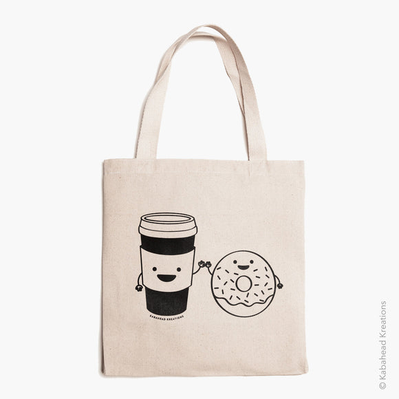 Donut Loves Coffee Tote Bag