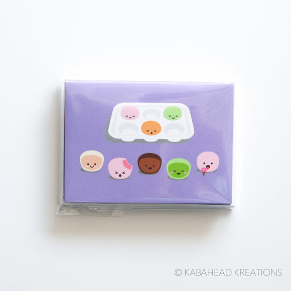 Mochi Ice Cream Note Cards
