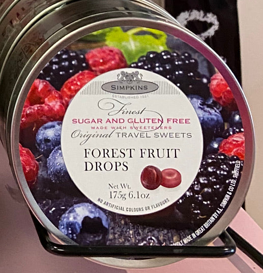 Travel Sweets Tin Forest Fruits SF GF
