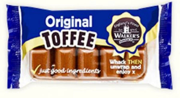 Walkers Toffee Block - ORIGINAL Toffee (100g Block)