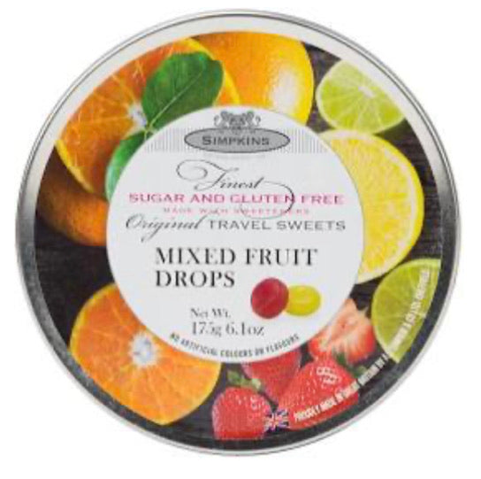 Mixed Fruit Drop Tin - Gluten Free & Sugar Free