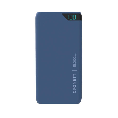 15,000 mAh Power Bank - Navy - Cygnett (AU)