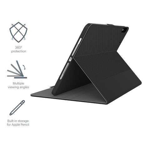"iPad 9.7"" Case with Apple Pencil Holder - Black - Cygnett (AU)"