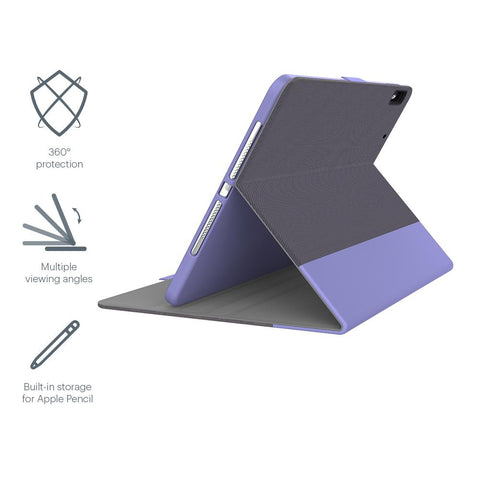 "iPad 9.7"" Case with Apple Pencil Holder - Purple - Cygnett (AU)"
