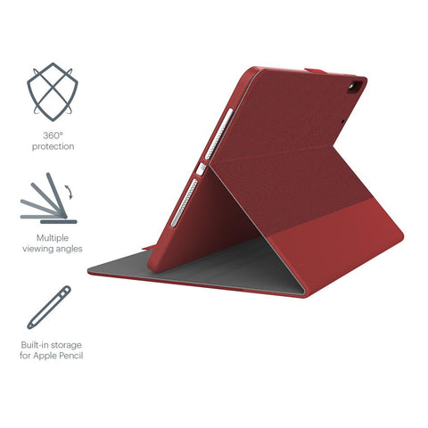 "iPad 9.7"" Case with Apple Pencil Holder - Red - Cygnett (AU)"