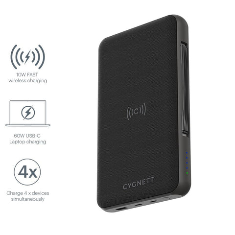 27,000 mAh USB-C Laptop and Wireless Power Bank - Cygnett (AU)