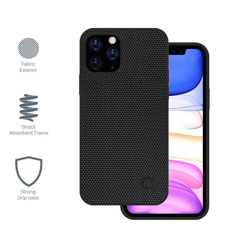 iPhone 12 & 12 Pro Slim Fabric Case - Black - Cygnett (AU)
