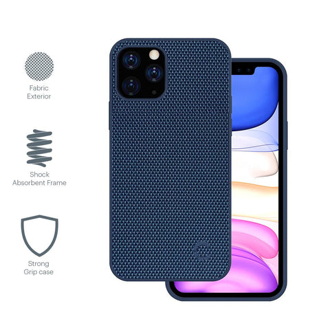 iPhone 12 & 12 Pro Slim Fabric Case - Navy - Cygnett (AU)