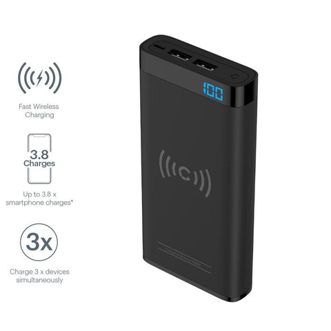 10,000 mAh Wireless Power Bank - Cygnett (AU)