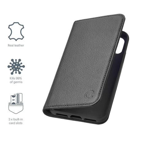iPhone 12 Mini Leather Wallet Case - Black - Cygnett (AU)