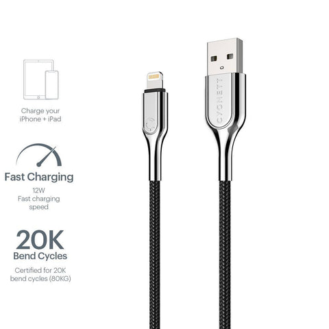 Lightning to USB-A Cable Braided Black 2m - Cygnett (AU)