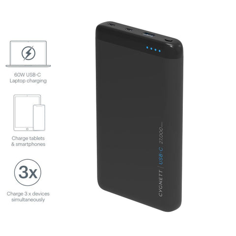 27,000 mAh USB-C Laptop Power Bank - Cygnett (AU)
