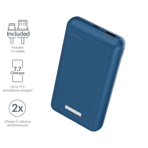20,000 mAh 18W Power Bank - Navy - Cygnett (AU)