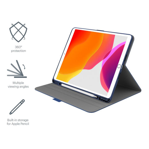 "iPad 10.2"" Case in Navy/Blue with Apple Pencil Holder - Cygnett (AU)"