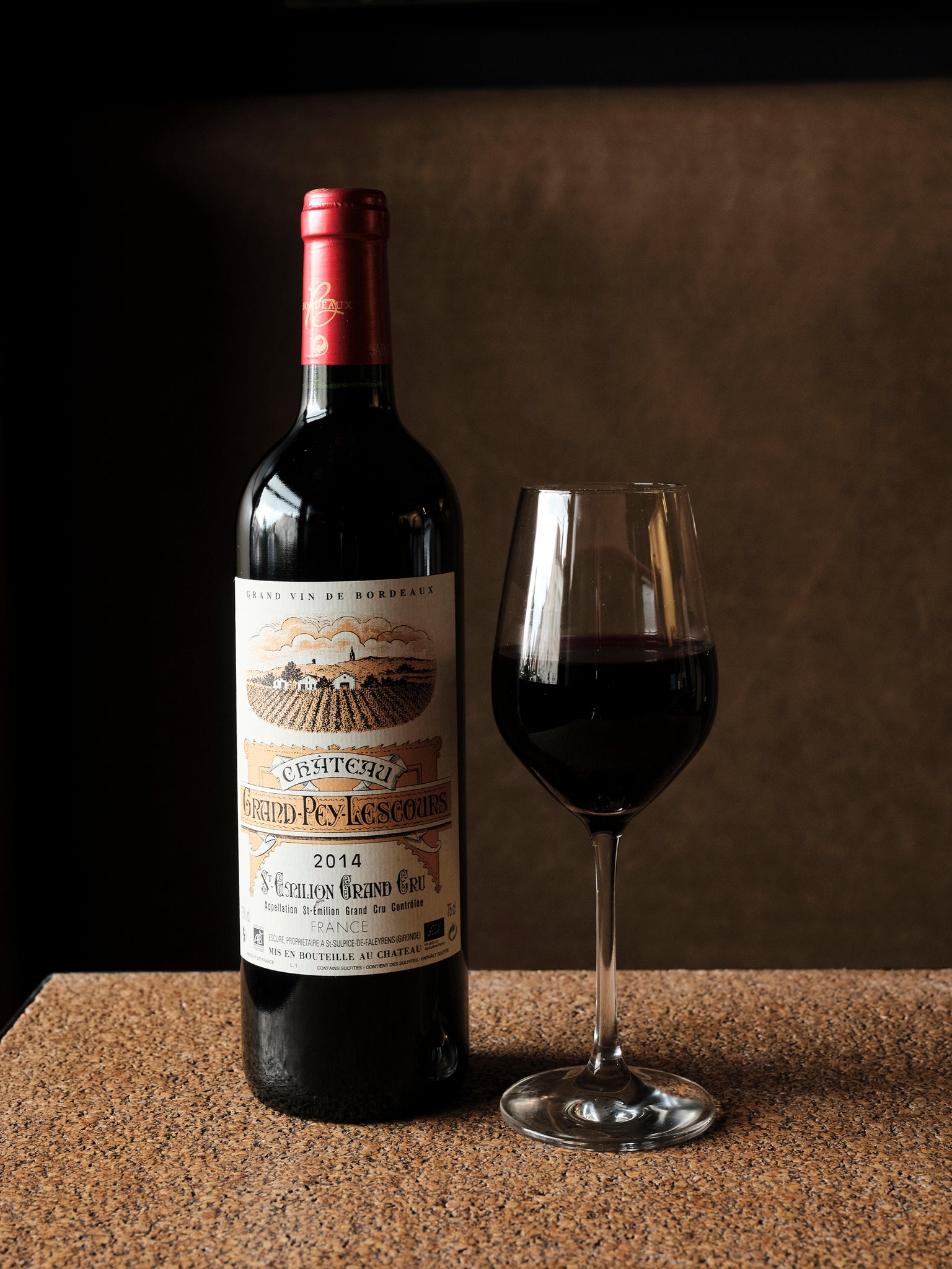 Chateau Grand Pey Lescours, St Emillion Grand Cru, Bordeaux, 2014