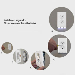 Placa de pared de salida Hirundo con luces de noche LED
