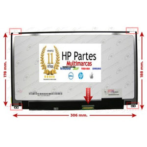 "Pantalla 13.3"" Led   SLIM   30 PINES IPS HD HP Lenovo ACER DELL"