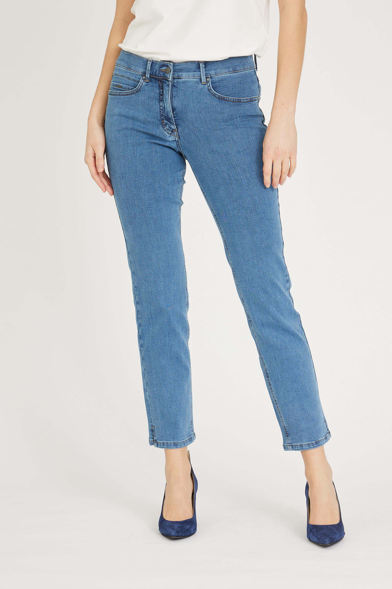 Christie Slit Regular SL - Blue Denim