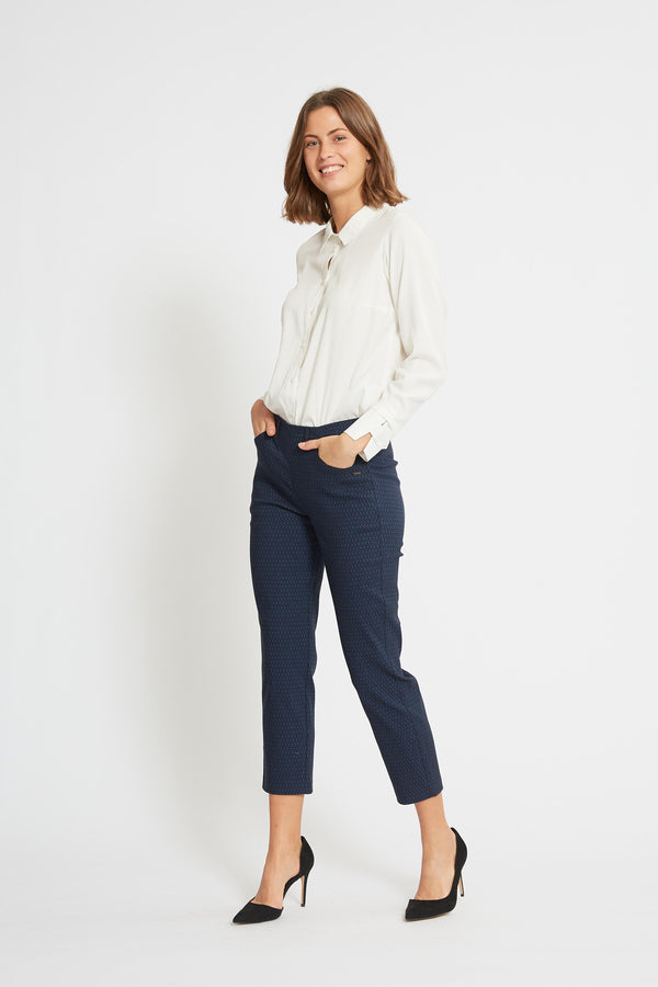 Kelly Regular Crop - Navy
