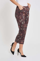 Piper Regular Crop - Dark Grape Print