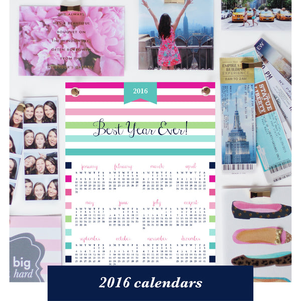 free printable for subscribers - 2016 year at a glance calendar