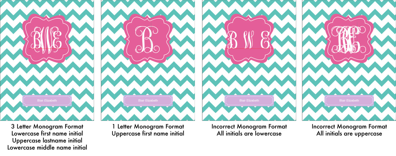 Printable Binder Cover Monogram Format