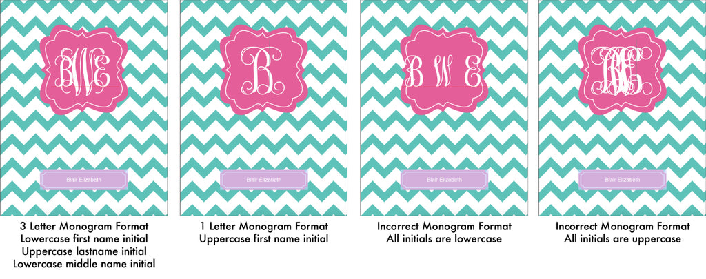 editing monogram text on printable planner covers