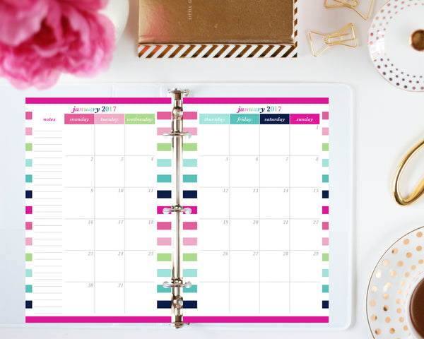 Printing instructions for the half letter planner by Jessica Marie Design