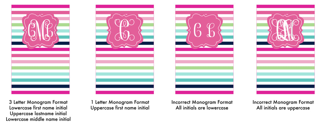 correct monogram format on editable file