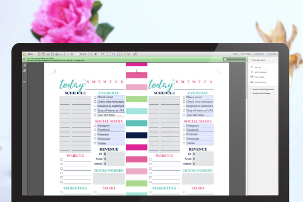 Editing Text Fields on Personal Size Inserts from Jessica Marie Design