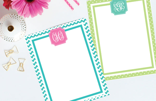printing instructions for printable stationery from Jessica Marie Design