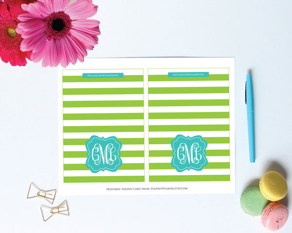 printing instructions for printable cards from Jessica Marie Design