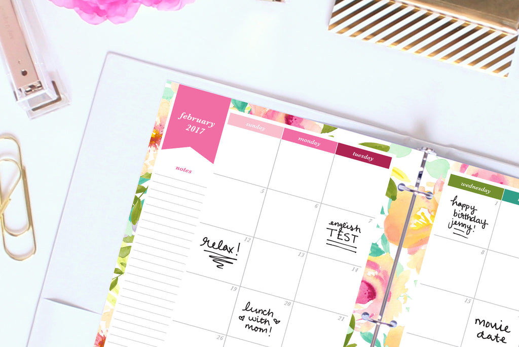 Calendar Monthly Design : Calendar printable month on pages letter