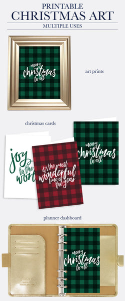 Christmas Printable Art - Set of 4