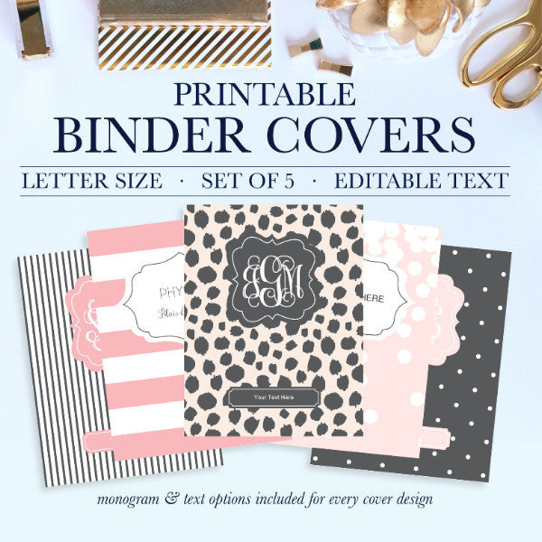 It is an image of Printable Binder Covers for School for full page