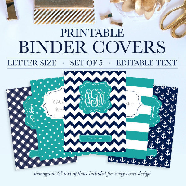 picture about Printable Monogram Binder Cover known as Printable Binder Handles