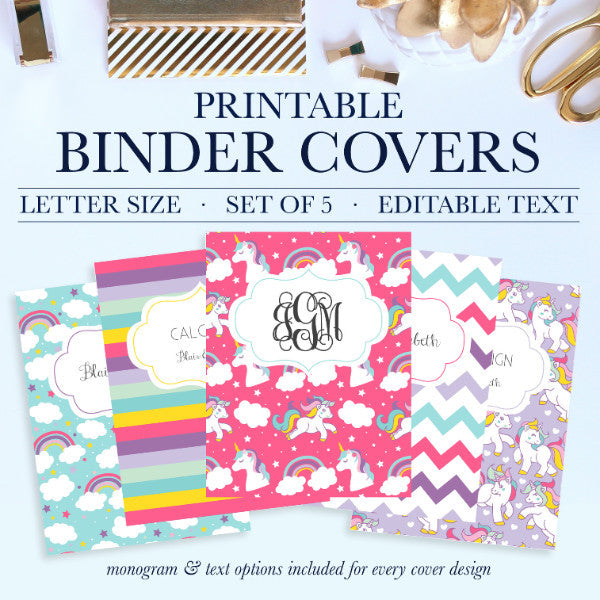 Printable Binder Covers – Jessica Marie Design