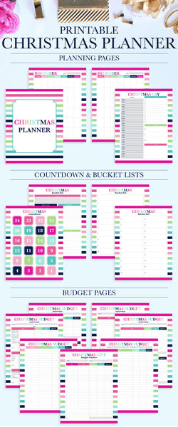 Christmas Planner Printable - Holiday Planner - Christmas Planner Kit - Holiday Organization Printable - Christmas Budget - Wish List