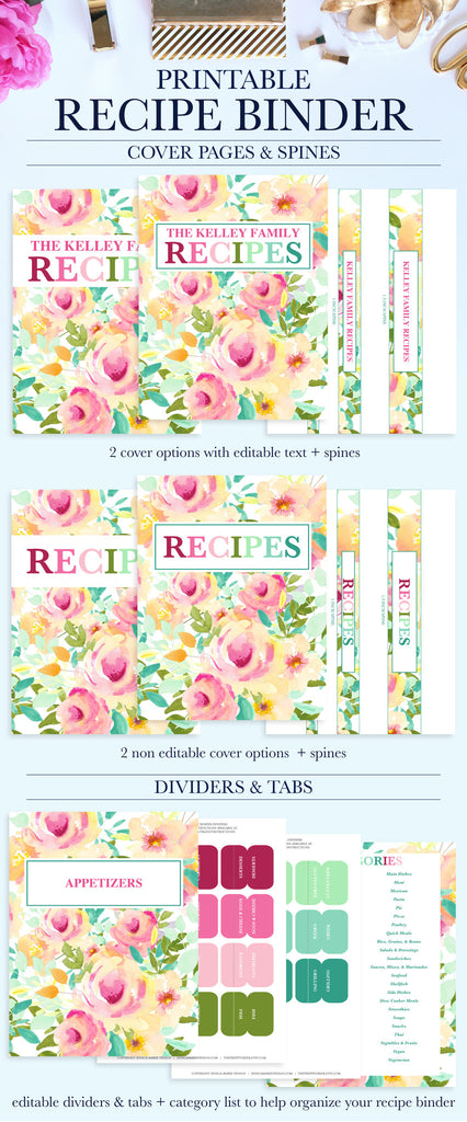 photograph about Recipe Binder Cover Printable identified as Recipe Binder Package Printable
