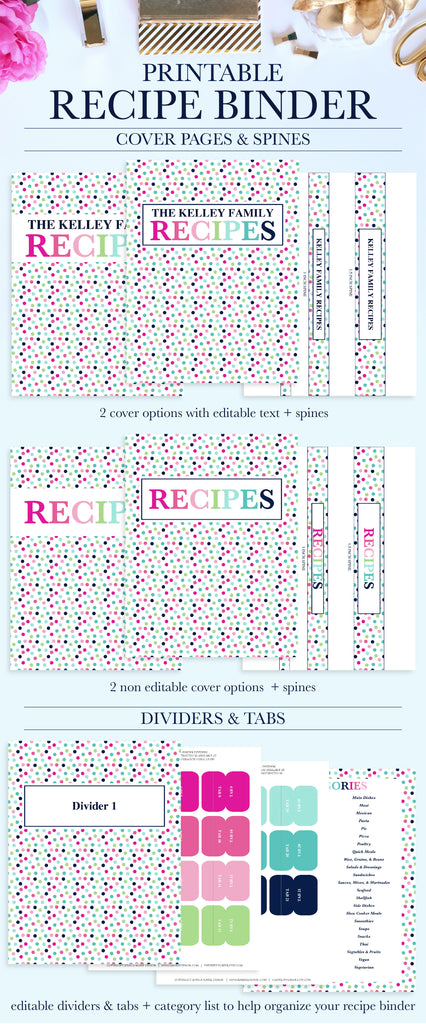 photo about Recipe Binder Cover Printable identify Recipe Binder Package Printable