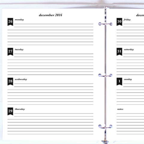 Free Planner Sample: Letter, Horizontal Lined