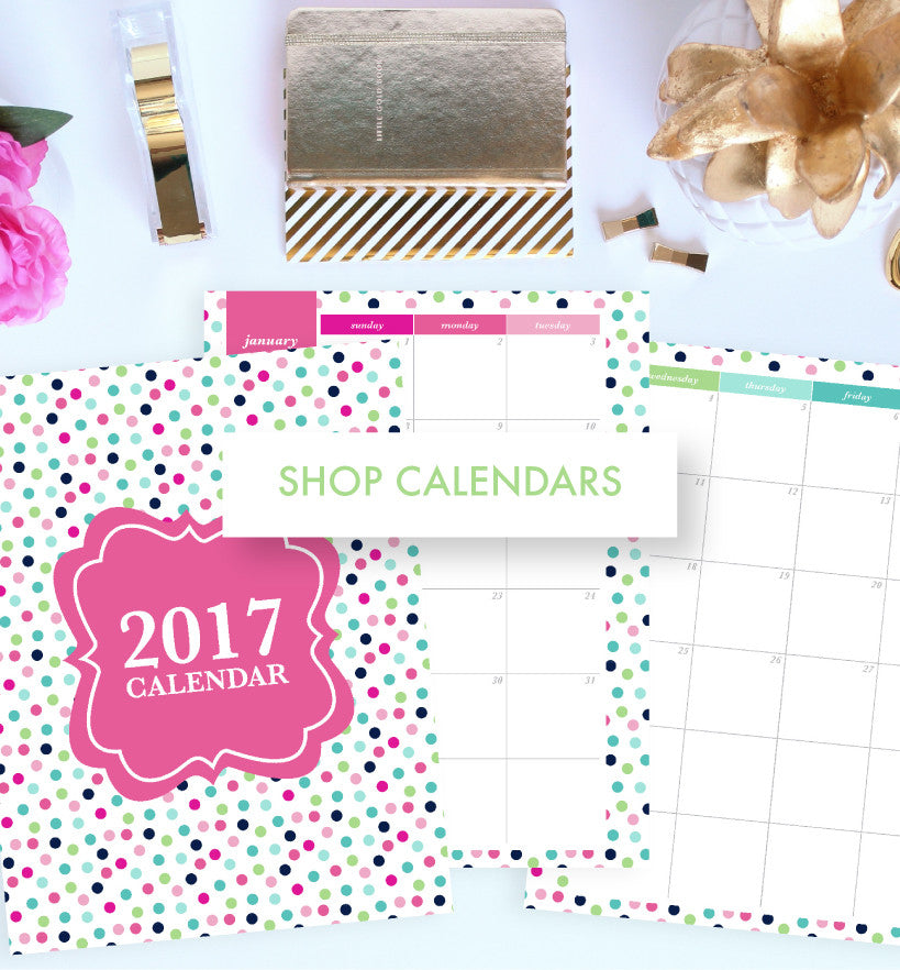 Shop Monthly Calendars by Jessica Marie Design