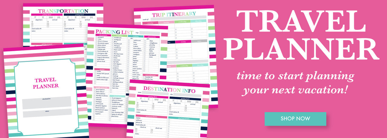Shop the Travel Planner by Jessica Marie Design
