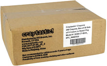 Load image into Gallery viewer, Craytastic! Bulk Crayons, Individual Boxes of 8 Colors/Count Class Pack - Full Size, Premium (Red, Yellow, Green, Blue, Purple, Brown, Black) Safety Tested Compliant with ASTM D-4236