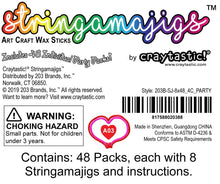 Load image into Gallery viewer, Craytastic! Stringamajigs Art Wax Craft Yarn Sticks for Kids - Bulk Party Set of 48 Packs, 8 Sticks Each Pack