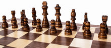 Load image into Gallery viewer, Fun+1 Toys! Classic Wooden Chess Set - Wooden Chess Board and Staunton Style Wood Pieces - Board Game Set for Adults and Kids - 15 x 15 Inches