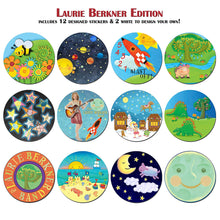 Load image into Gallery viewer, KidSwitch Lightswitch Extension for Toddlers - Laurie Berkner Edition - 3 Count - Includes 12 Themed Art Decals - Multi-Award Winning!
