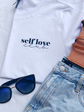Load image into Gallery viewer, Self Love Club Tee - White