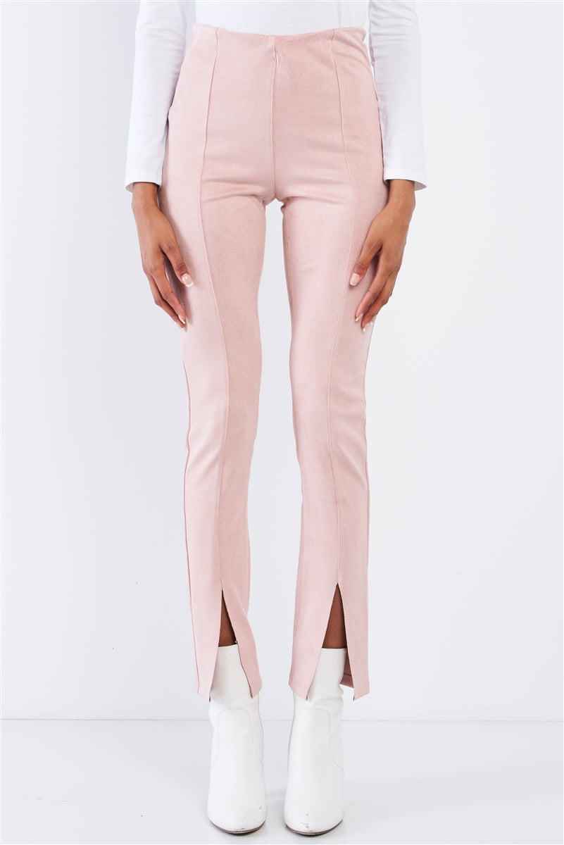 Blush Suede Pants